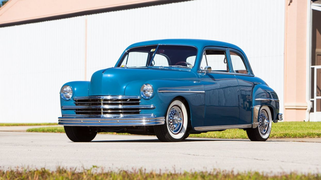 1949 PLYMOUTH SPECIAL DELUXE cars blue wallpaper