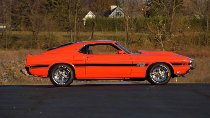 1970 FORD MUSTANG SHELBY gt500 fastback cars wallpaper
