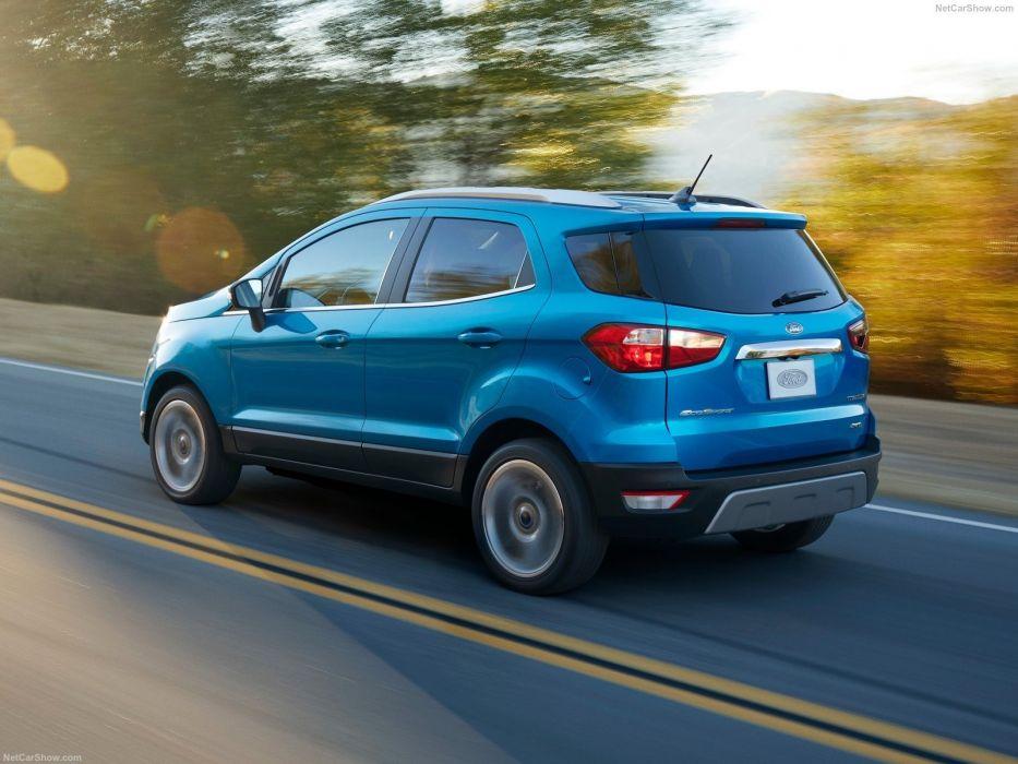 Ford EcoSport US-Version cars suv blue 2017 wallpaper
