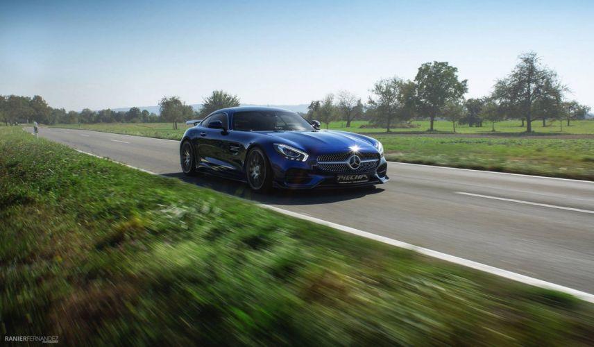 2016 piecha design Mercedes AMG (GT) RSR cars blue modified wallpaper