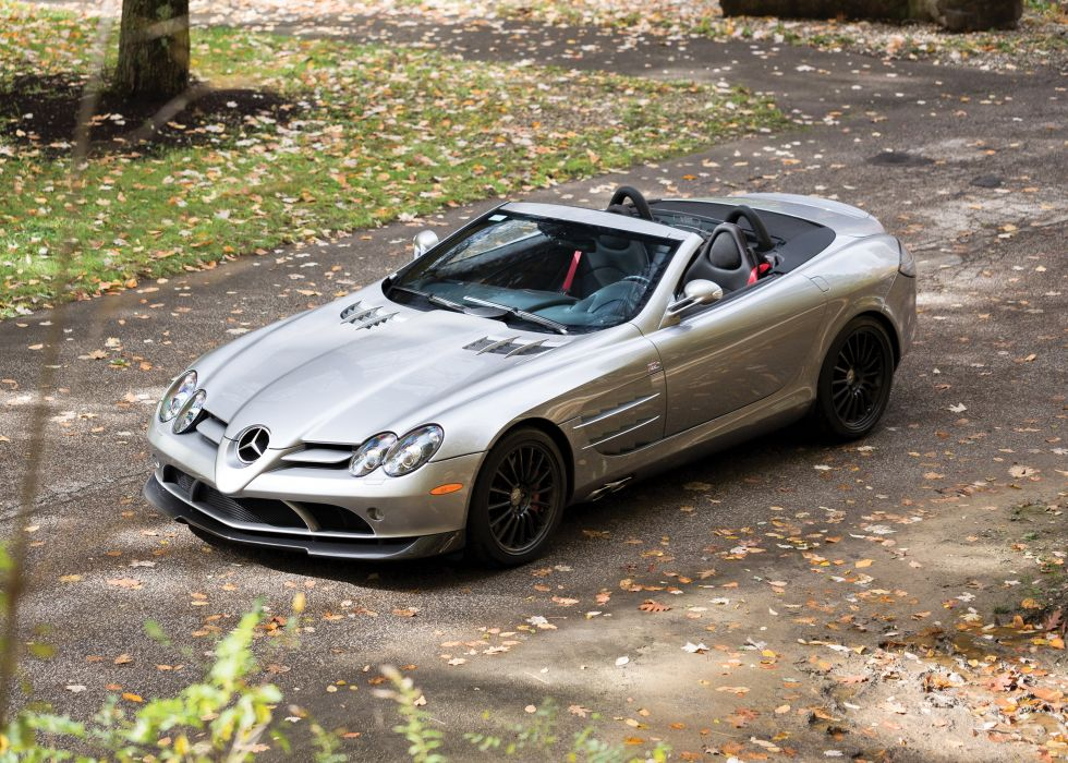 Mercedes Benz SLR McLaren Roadster 722S (R199) cars supercars silver 2009 wallpaper