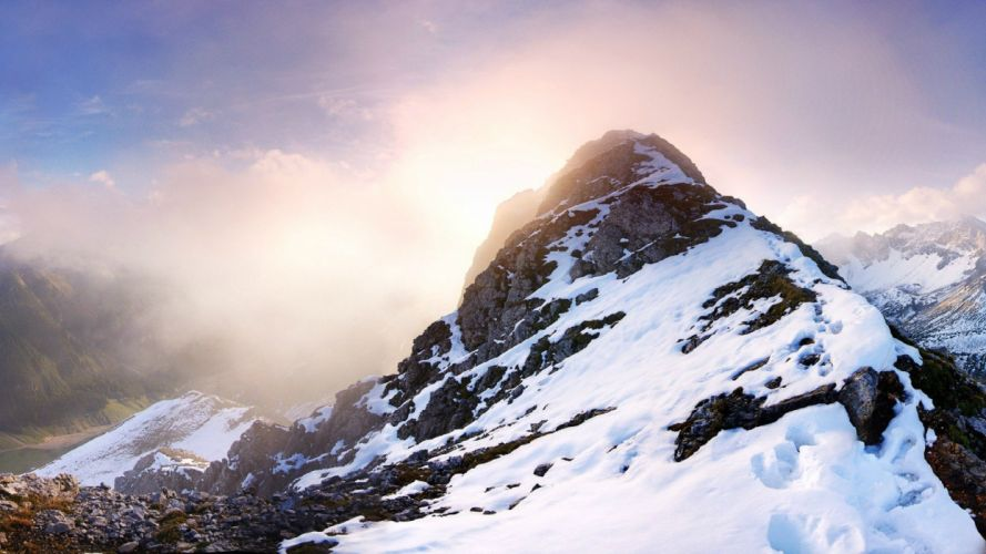 landscape mountain nature winter wallpaper