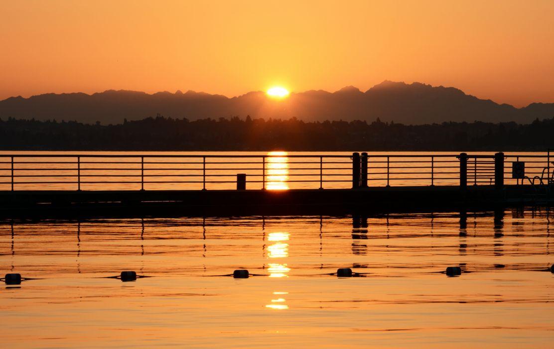 lake sunset nature sunset wallpaper