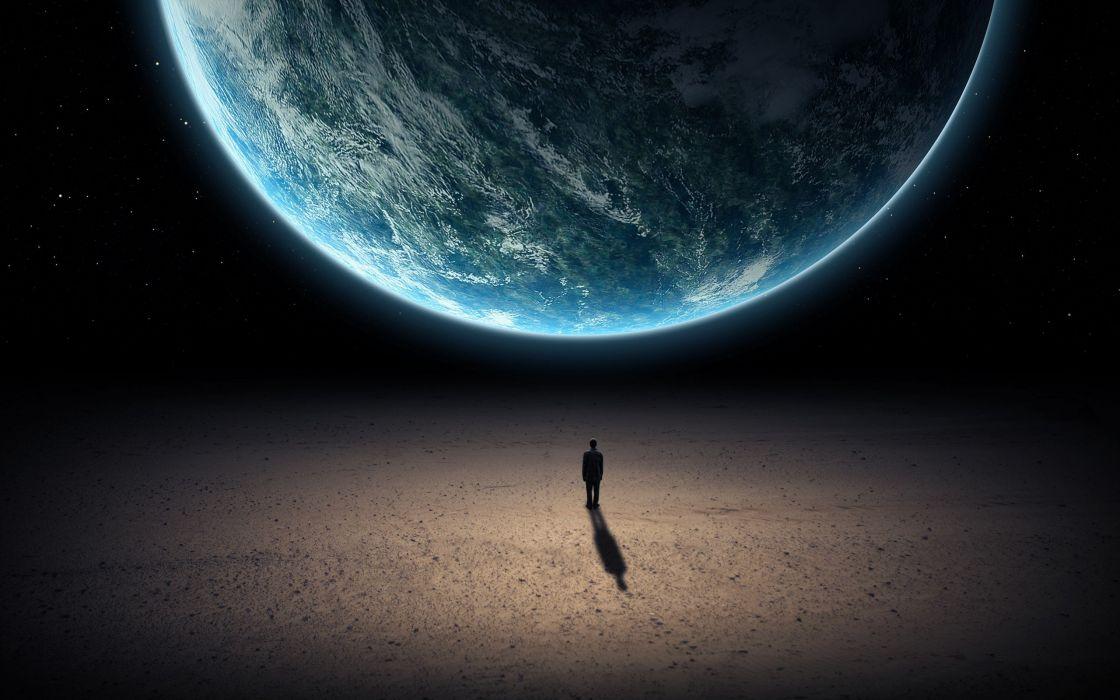 digital art Earth space Standing wallpaper
