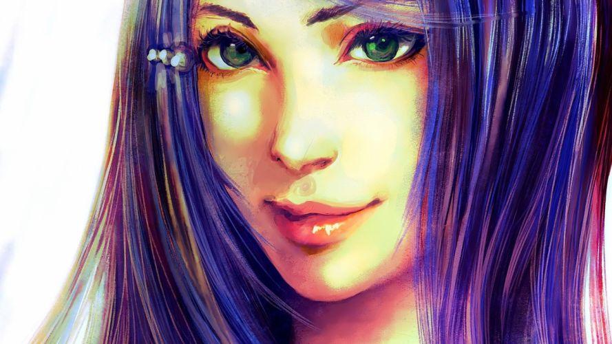 Anime Girls digital art wallpaper