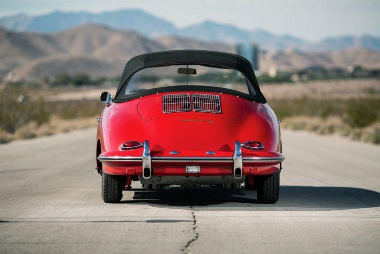 Porsche 356C 1600 Cabriolet cars red classic 1963 wallpaper