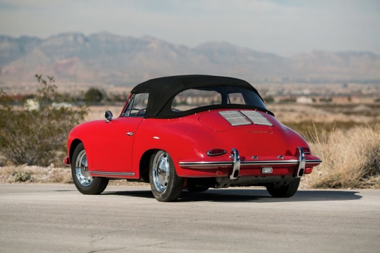 Porsche 356C 1600 Cabriolet cars red classic 1963 wallpaper