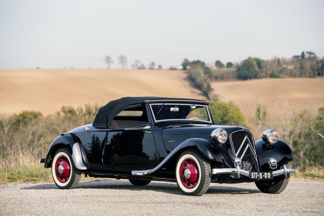 1937 Citroen Traction Avant 11CV Cabriolet cars black classic wallpaper