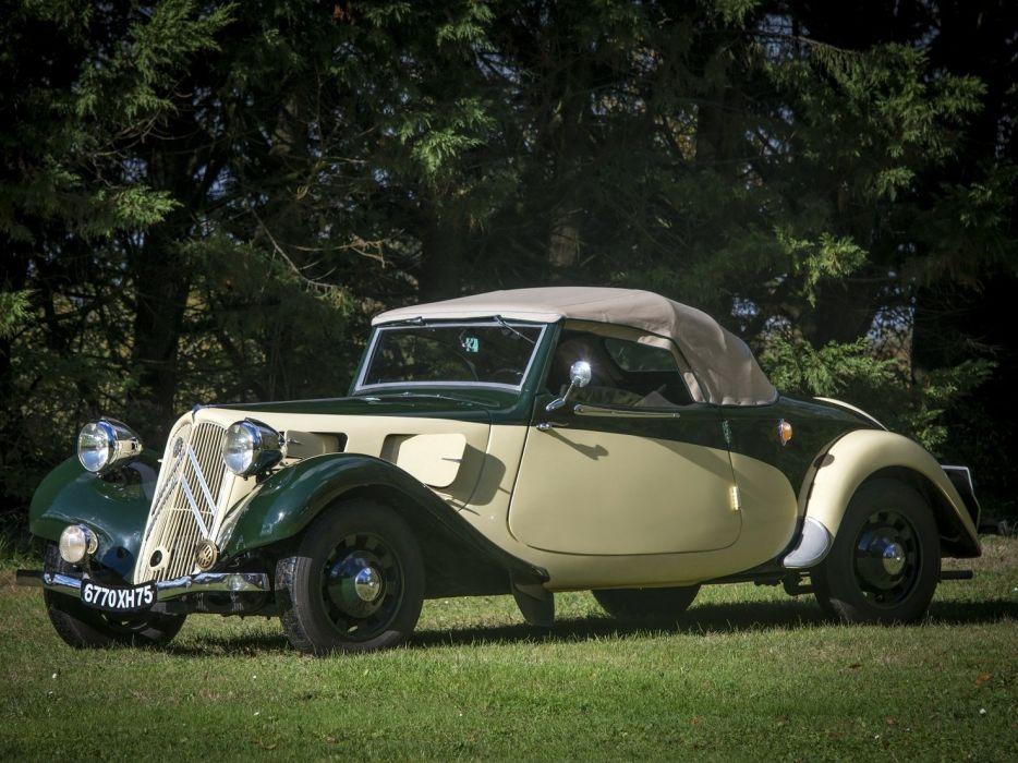 1937 Citroen Traction Avant 11CV Cabriolet cars classic wallpaper