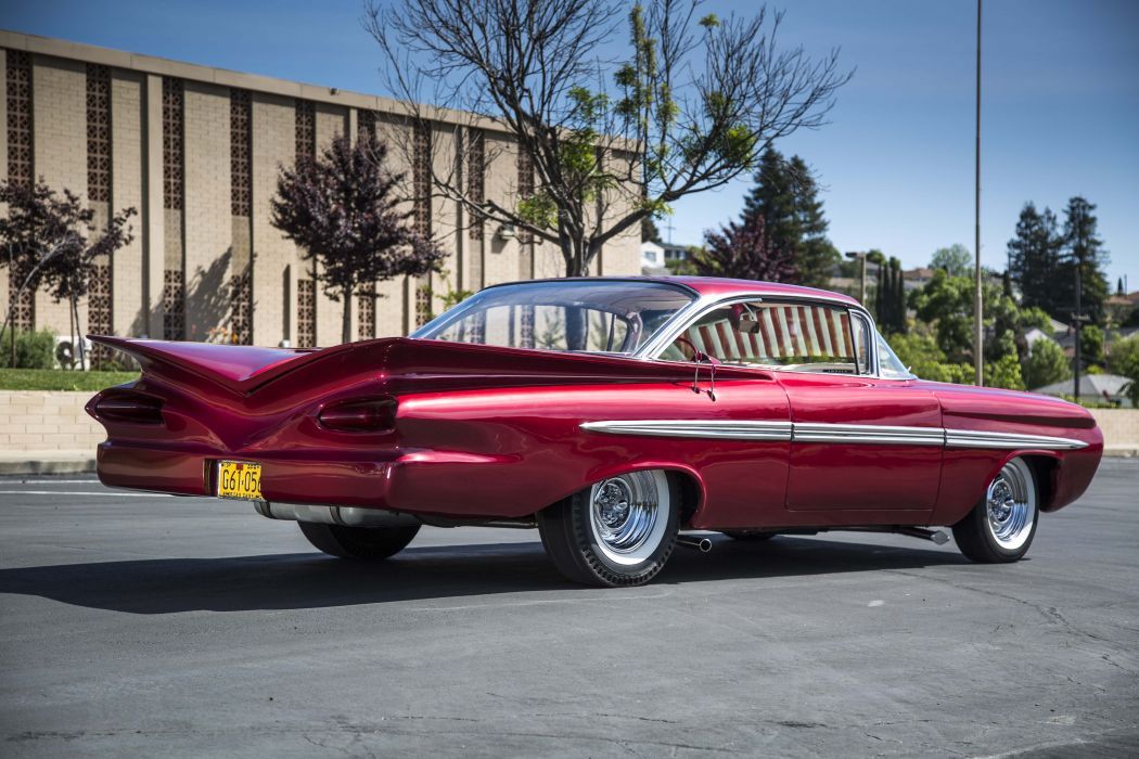 1959 chevy Impala cars red Little One classic wallpaper