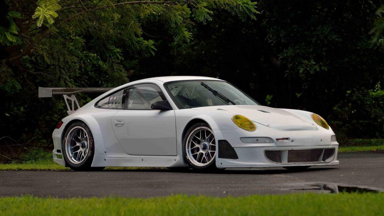 2007 PORSCHE 997 GT3 cars racecars white wallpaper