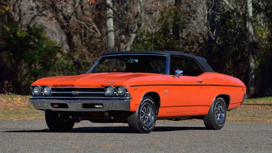 1969 CHEVROLET CHEVELLE (ss) CONVERTIBLE cars orange wallpaper