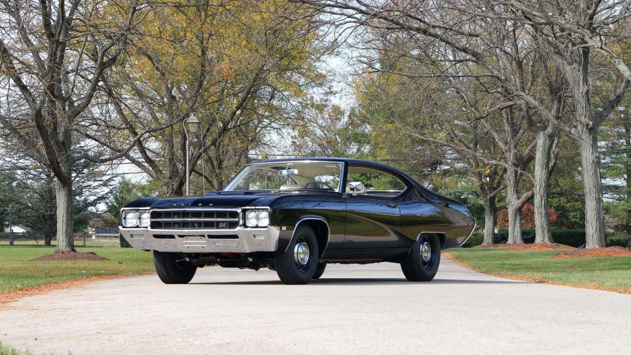 1969 BUICK (GS) STAGE-1 cars black wallpaper