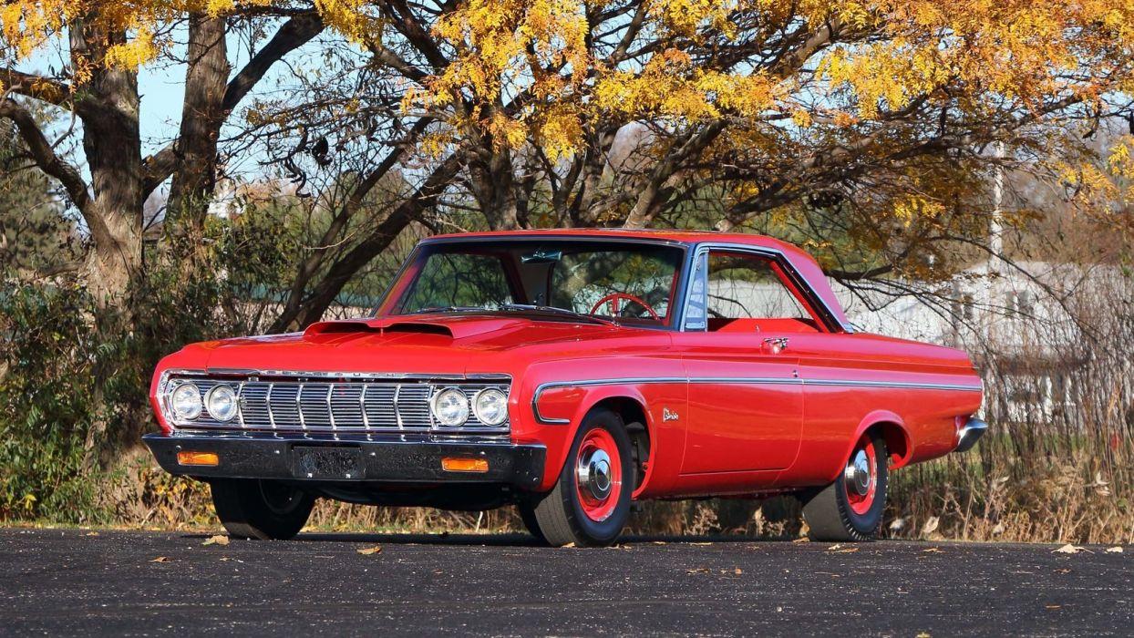 1964 PLYMOUTH BELVEDERE LIGHTWEIGHT cars 426 red wallpaper