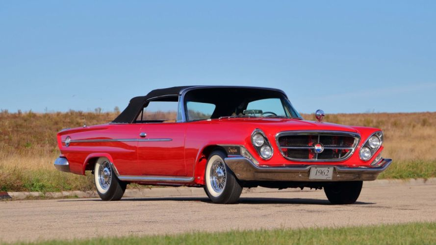 1962 CHRYSLER 300H CONVERTIBLE cars red classic wallpaper
