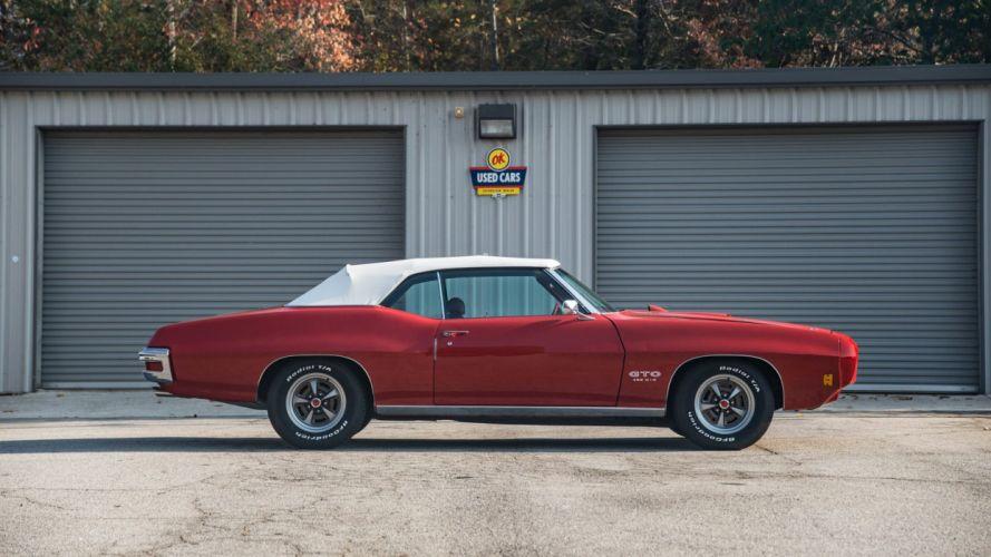 1970 PONTIAC GTO CONVERTIBLE 455 cars red wallpaper