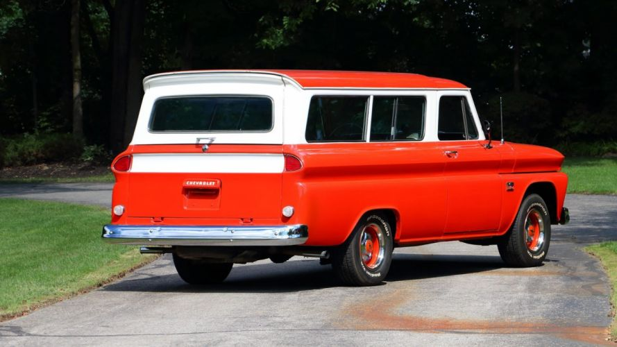 1966 CHEVROLET SUBURBAN cars red station wagon wallpaper