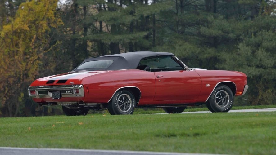 1970 CHEVROLET CHEVELLE (ss) CONVERTIBLE cars red wallpaper
