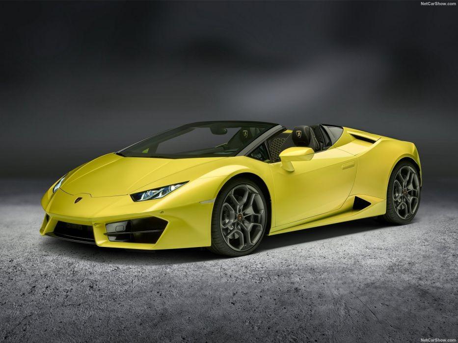 Lamborghini Huracan RWD Spyder cars yellow 2017  wallpaper