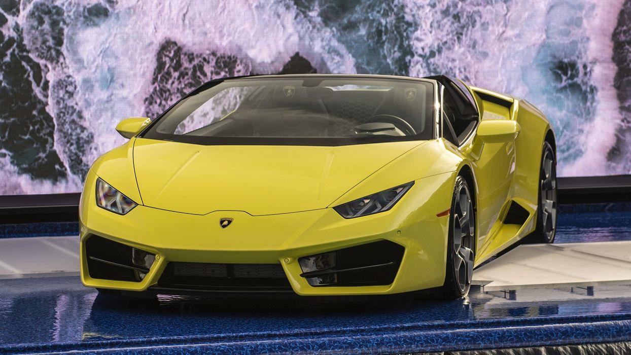 2017 cars huracan lamborghini rwd spyder yellow wallpaper