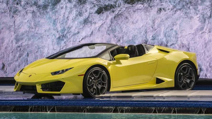 2017 cars huracan lamborghini rwd spyder yellow wallpaper
