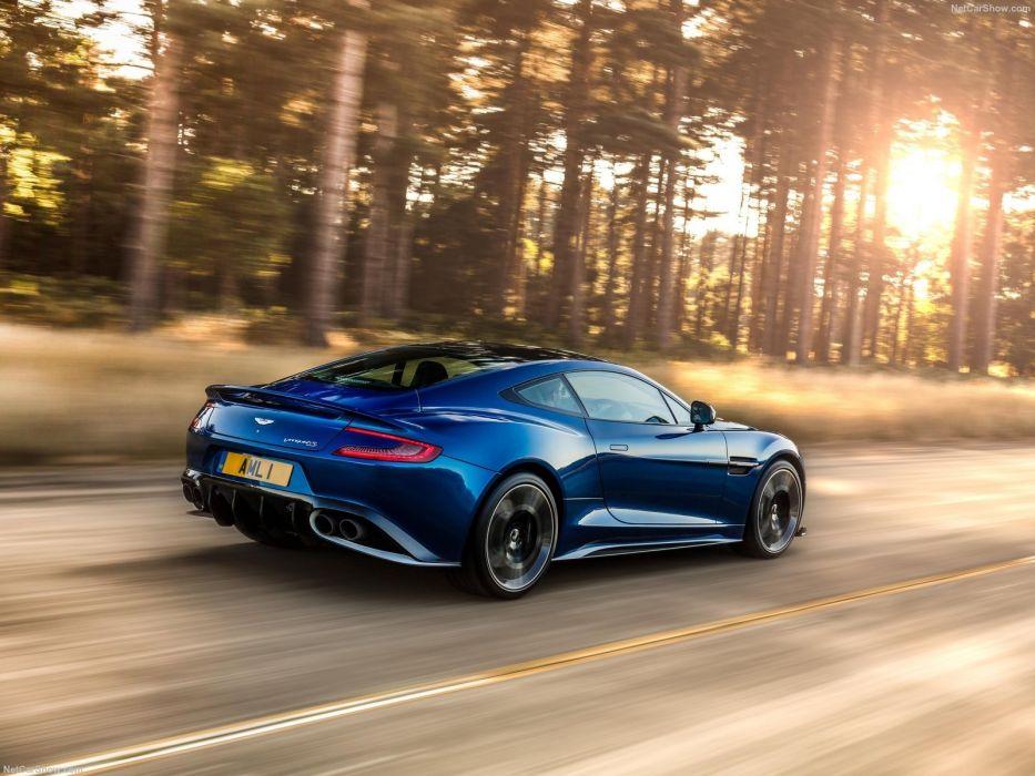 Aston Martin Vanquish (S) cars coupe blue 2017 wallpaper