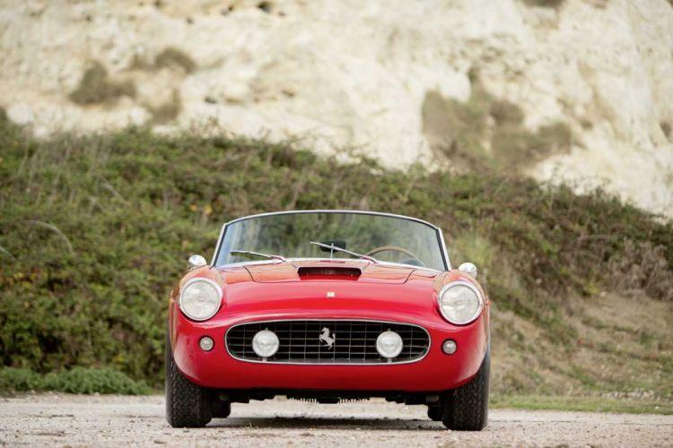 1960 Ferrari 250-GT California Spider cars red classic wallpaper