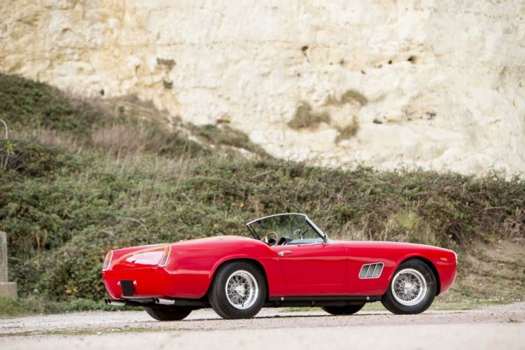 1960 Ferrari 250-GT California Spider cars red classic wallpaper