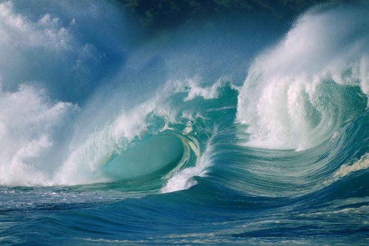 oceano olas tormenta naturaleza wallpaper