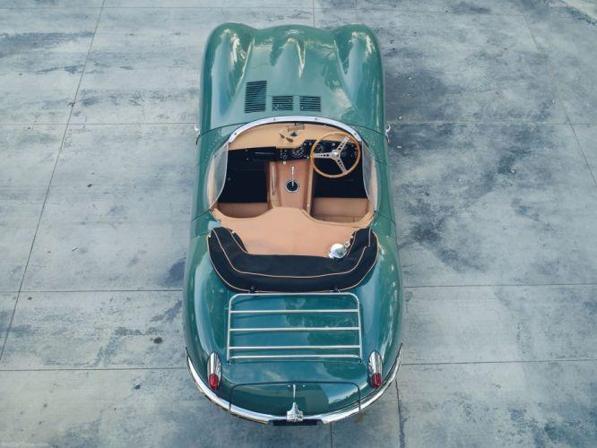 Jaguar XKSS (57) roadster cars green 2017 wallpaper
