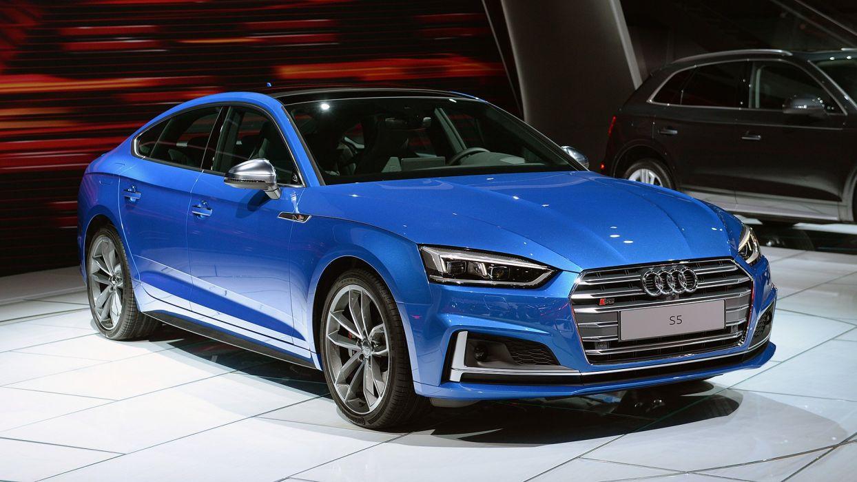 2017 Audi (S5) Sportback cars blue wallpaper