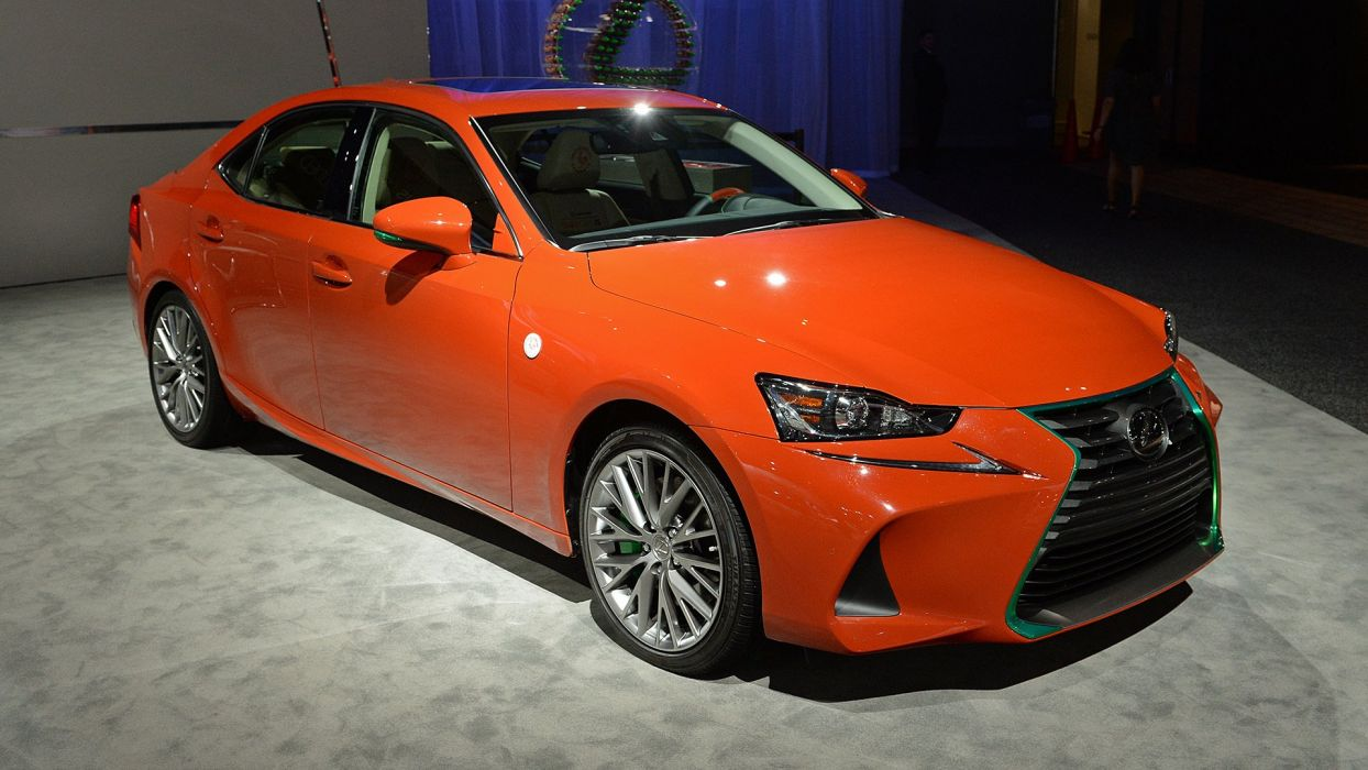 Lexus Sriracha IS-300 cars sedan orange 2016 wallpaper