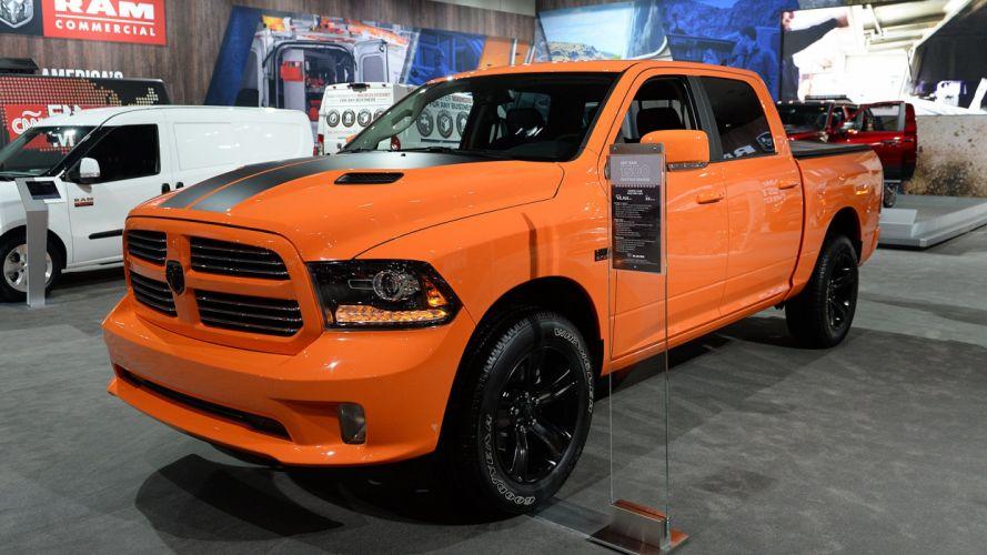 Ignition Orange 2017 Ram 1500 Sport truck pickup wallpaper