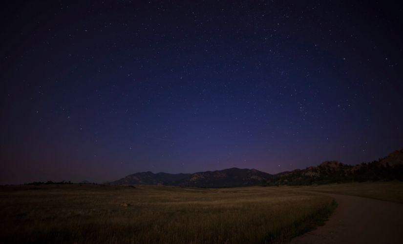 cielo noche estrellas naturaleza wallpaper