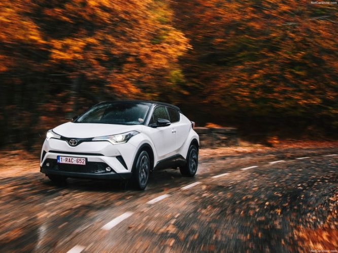 Toyota C-HR cars suv white wallpaper