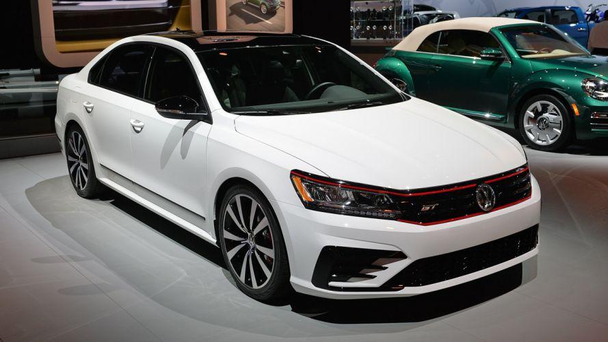 Volkswagen Passat (GT) Concept cars white 2017 wallpaper