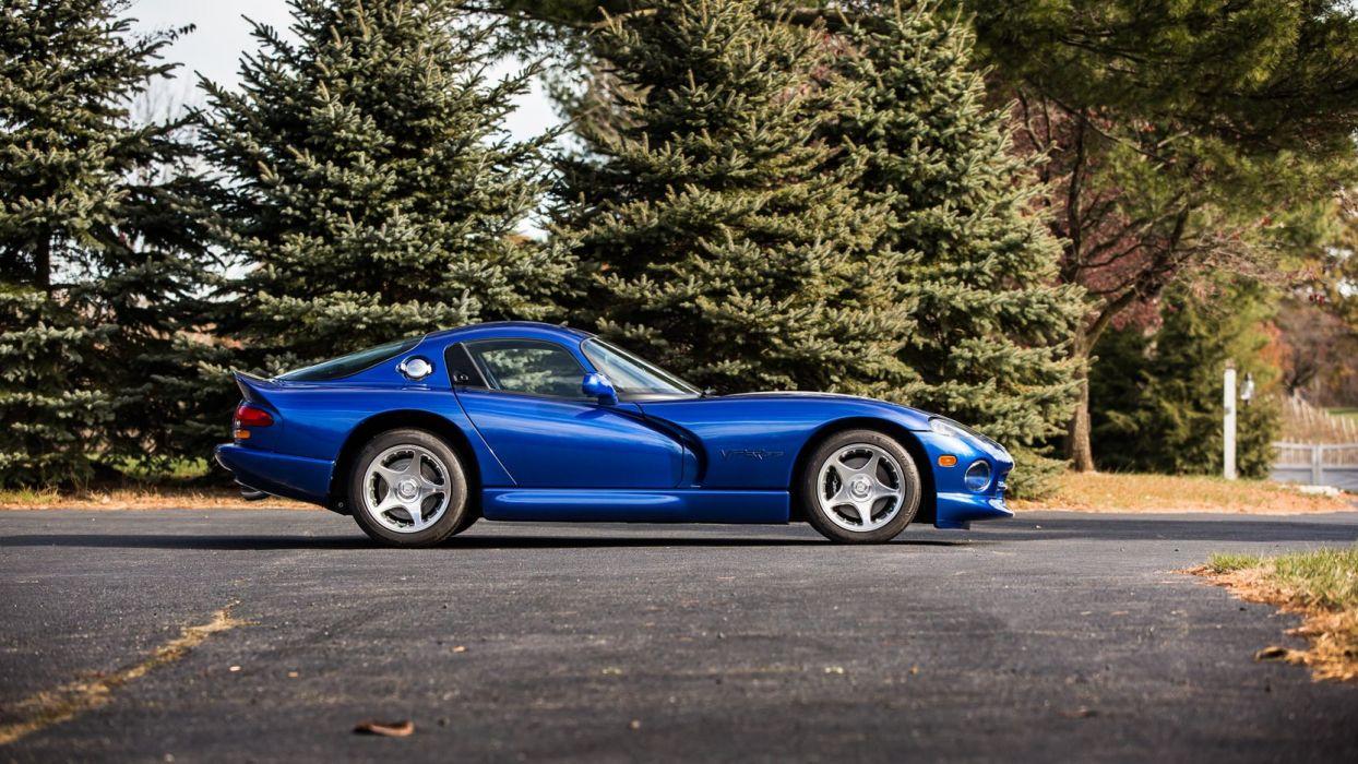 1996 Dodge Viper GTS Coupe cars blue wallpaper