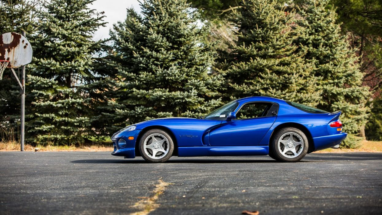 1996 Dodge Viper GTS Coupe cars blue wallpaper