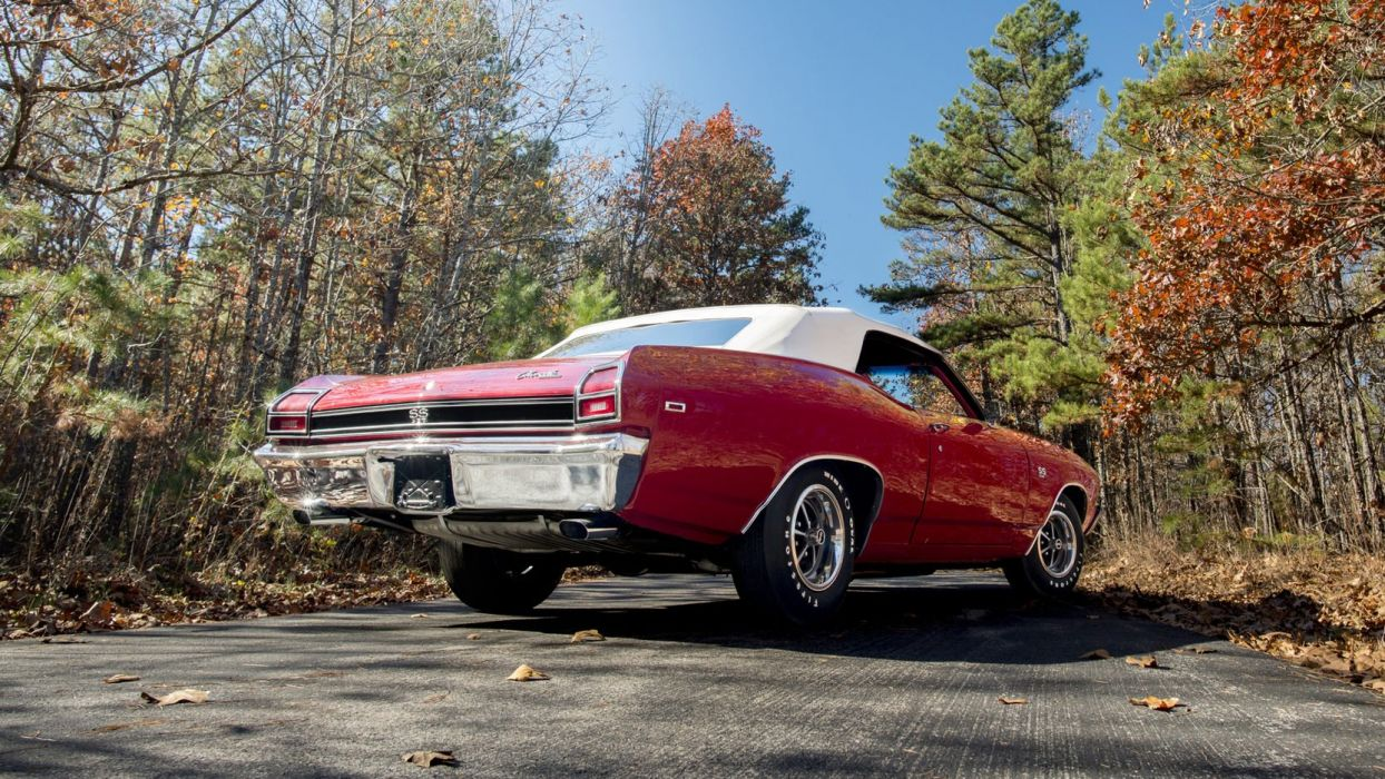 1969 CHEVROLET CHEVELLE CONVERTIBLE cars red (ss) 396 wallpaper