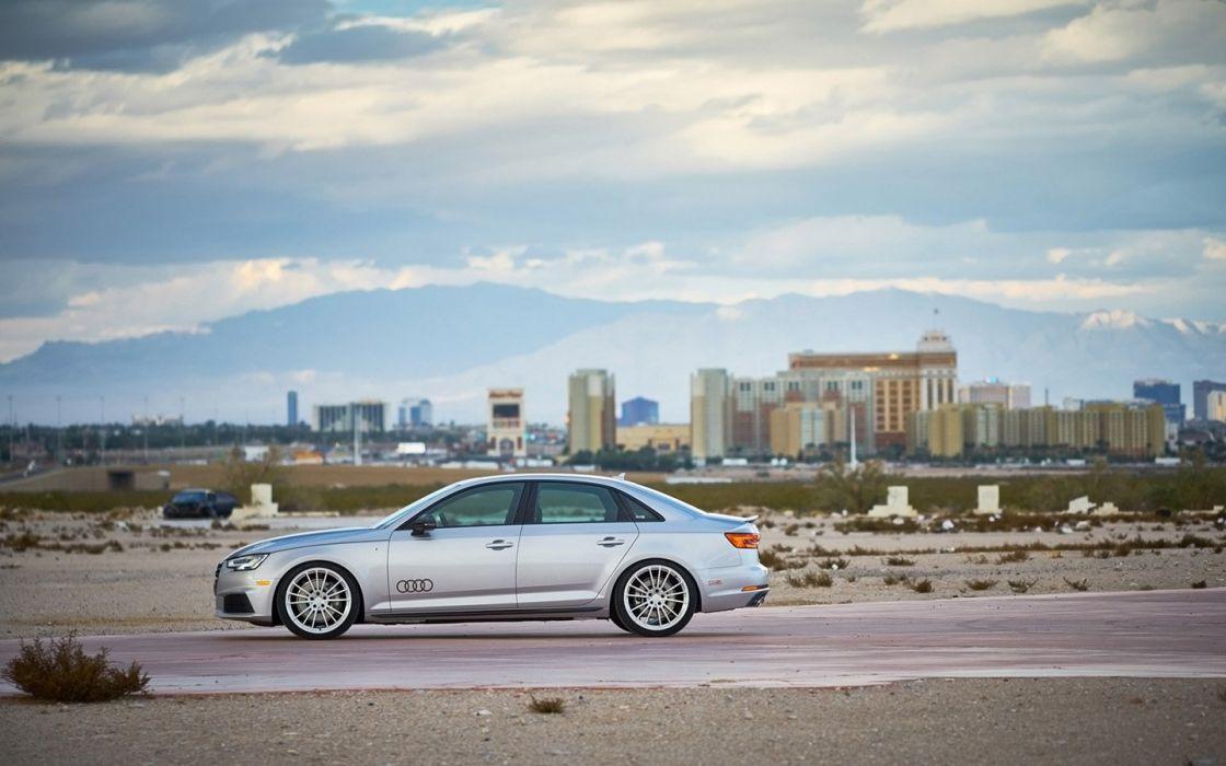 2017 H&R Springs Audi (A4) quattro cars sedan silver modified wallpaper