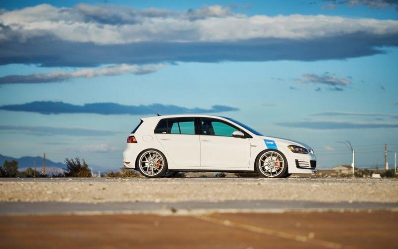 2016 H&R Springs Volkswagen Golf GTI cars modified wallpaper