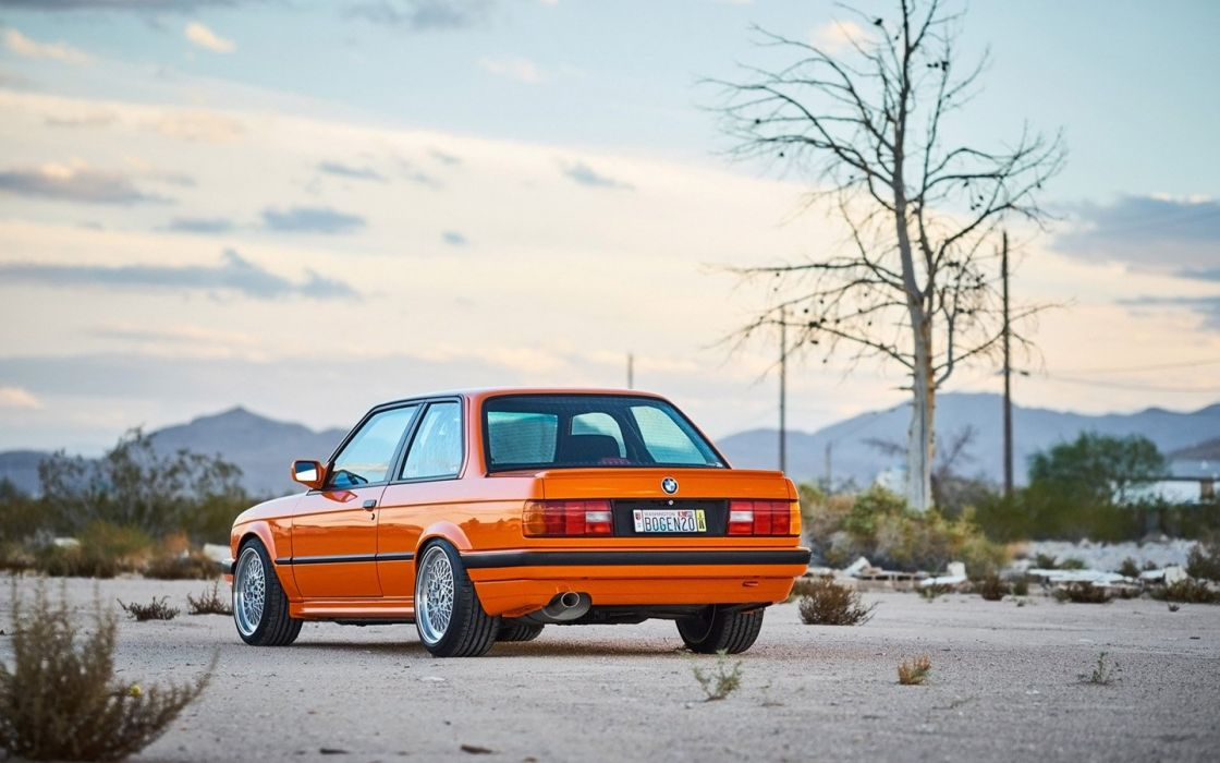 1991 H&R Springs BMW 318is cars modified orange wallpaper