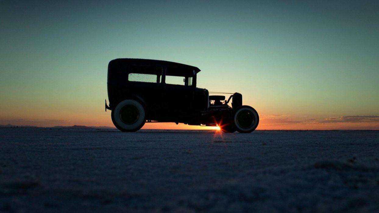 Hot Rod Sunset wallpaper