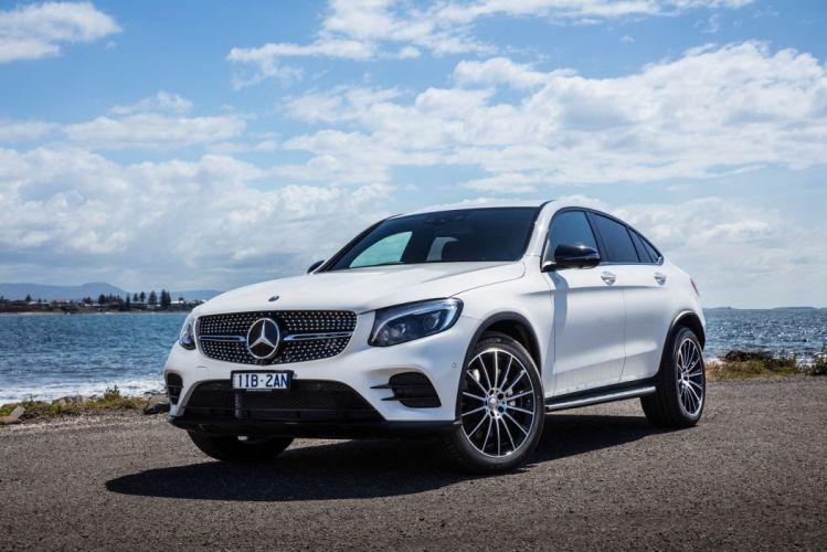 Mercedes Benz GLC 250 4MATIC AMG Line Coupe AU-spec (C253) cars suv white 2016 wallpaper
