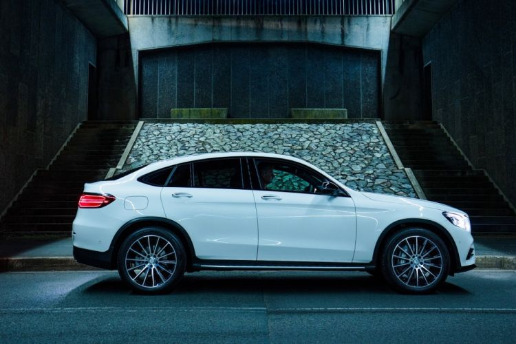 Mercedes Benz GLC 250 4MATIC AMG Line Coupe AU-spec (C253) cars suv white 2016 wallpaper
