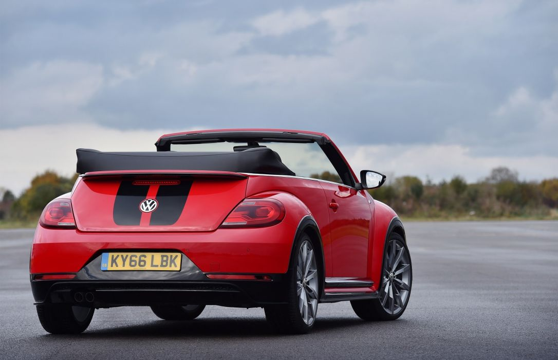 Volkswagen Beetle Cabriolet R-Line UK-spec cars red 2016 wallpaper