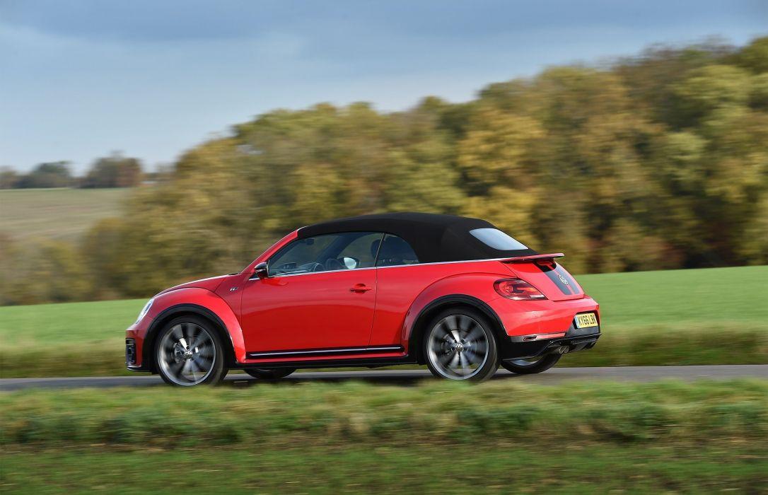 Volkswagen Beetle Cabriolet R-Line UK-spec cars red 2016 wallpaper