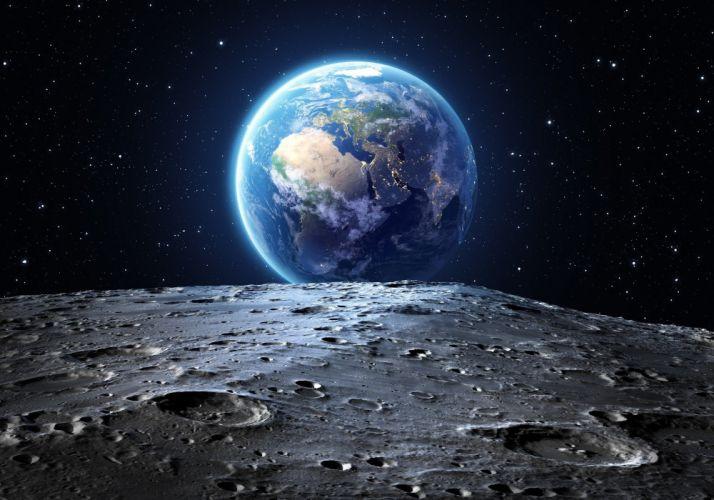 tierra vista luna espacio naturaleza wallpaper