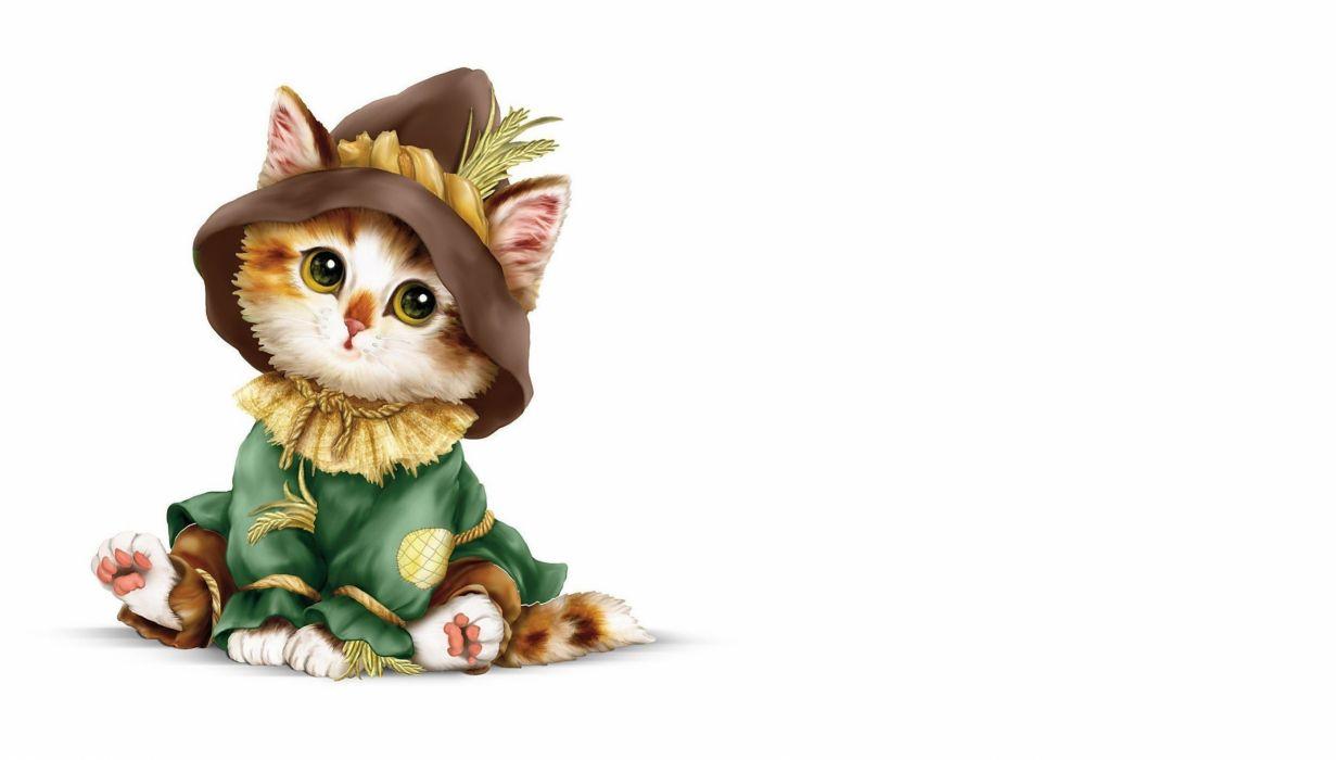 artwork cat kittens wallpaper