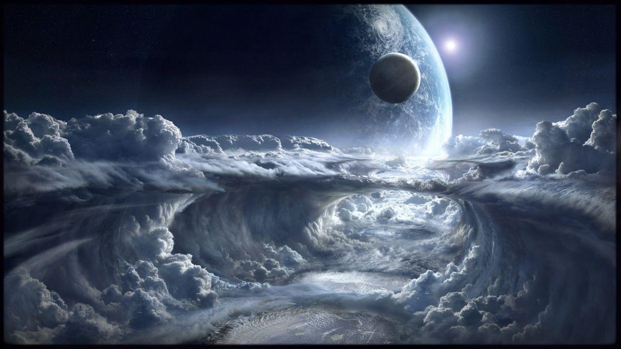 planeta alienigena lunas espacio naturaleza wallpaper